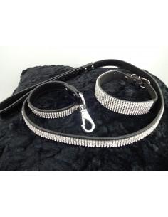 Extravagantes Strass Hundehalsband/Leine