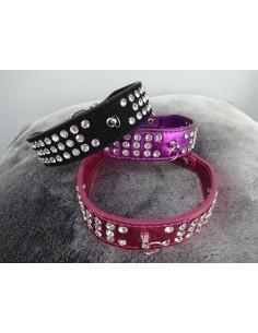 Hundehalsband metallic