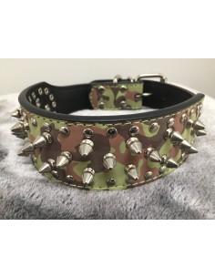 Hundehalsband Camouflage/Tarn Nieten-Halsband